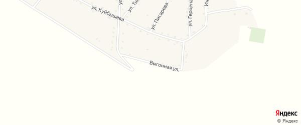 Выгонная улица на карте аула Мамхег Адыгеи с номерами домов
