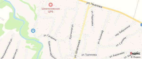 Курганная улица на карте аула Хакуринохабля с номерами домов