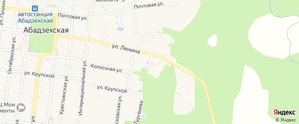 Улица Чапаева на карте Абадзехской станицы Адыгеи с номерами домов