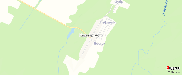 Карта хутора Кармира-Астх в Адыгее с улицами и номерами домов