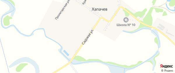 Садовая улица на карте хутора Хапачева Адыгеи с номерами домов