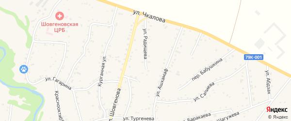 Улица Радищева на карте аула Хакуринохабля с номерами домов