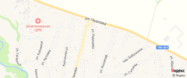 Улица Радищева на карте аула Хакуринохабля Адыгеи с номерами домов