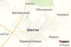 Карта г. Шахты Ростовская область