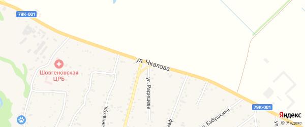 Улица Чкалова на карте аула Хакуринохабля Адыгеи с номерами домов