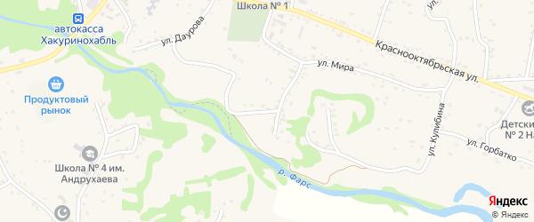 Улица Самойленко на карте аула Хакуринохабля Адыгеи с номерами домов