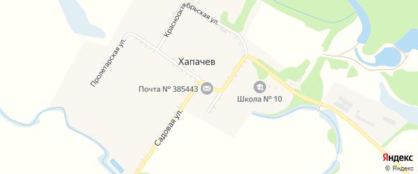 Пролетарская улица на карте хутора Хапачева Адыгеи с номерами домов