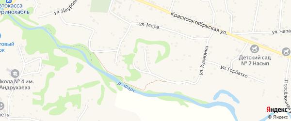 Фестивальная улица на карте аула Хакуринохабля Адыгеи с номерами домов