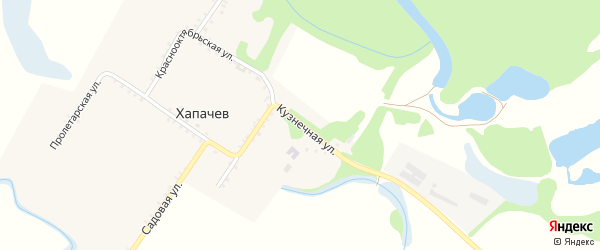 Кузнечная улица на карте хутора Хапачева Адыгеи с номерами домов