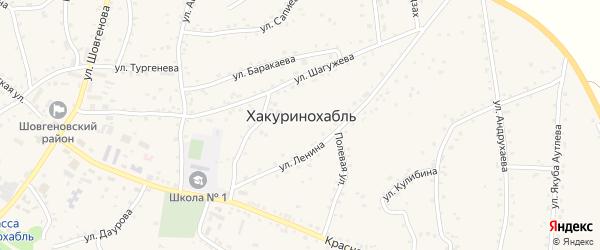 Эскадронная улица на карте аула Хакуринохабля Адыгеи с номерами домов