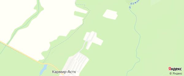 Карта садового некоммерческого товарищества Зубра в Адыгее с улицами и номерами домов
