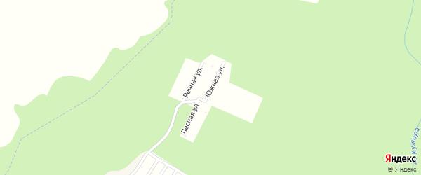 Речная улица на карте садового некоммерческого товарищества Зубра с номерами домов
