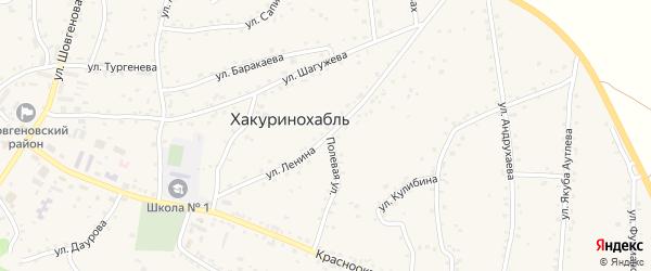 Улица Ленина на карте аула Хакуринохабля с номерами домов