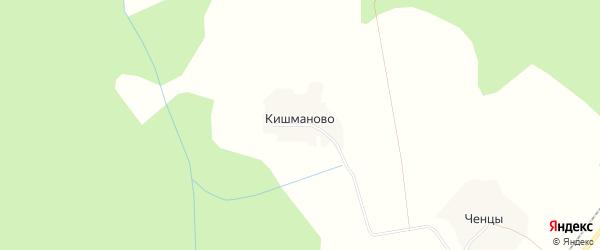 Карта деревни Кишманово в Ярославская области с улицами и номерами домов