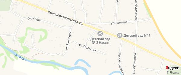 Улица Горбатко на карте аула Хакуринохабля Адыгеи с номерами домов