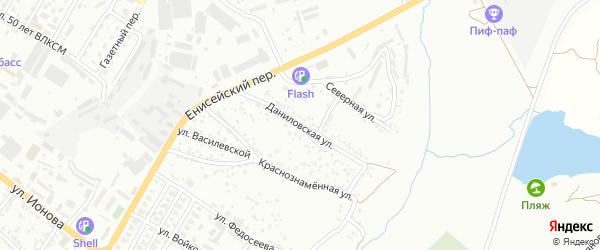 Даниловская улица на карте Шахт с номерами домов