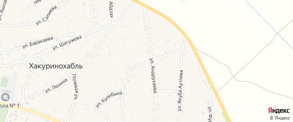 Улица им Мамишева на карте аула Хакуринохабля Адыгеи с номерами домов