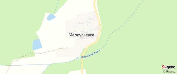 Цветочная улица на карте поселка Меркулаевки Адыгеи с номерами домов