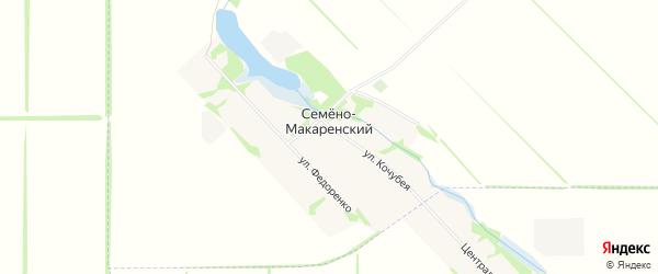 Карта Семена-Макаренского хутора в Адыгее с улицами и номерами домов