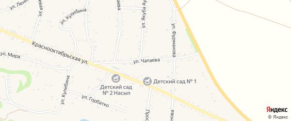 Улица Чапаева на карте аула Хакуринохабля Адыгеи с номерами домов