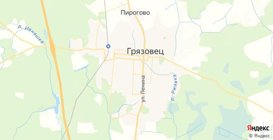 Карта Грязовца с улицами и домами подробная. Показать со спутника номера домов онлайн