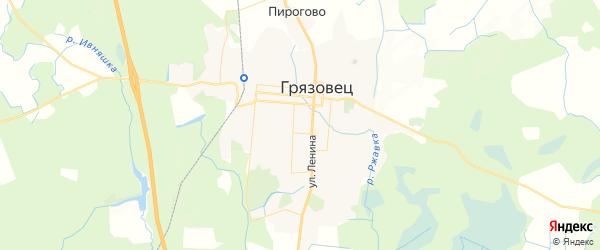 Карта Грязовца с районами, улицами и номерами домов