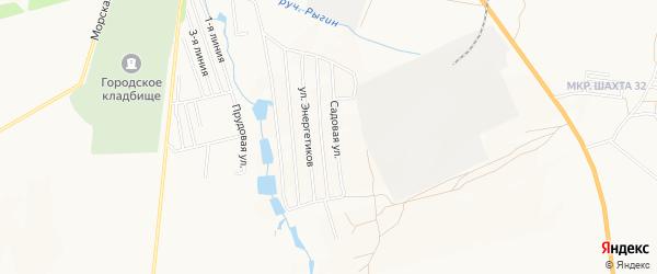 Карта садового некоммерческого товарищества Заря-1 города Каменска-Шахтинского в Ростовской области с улицами и номерами домов