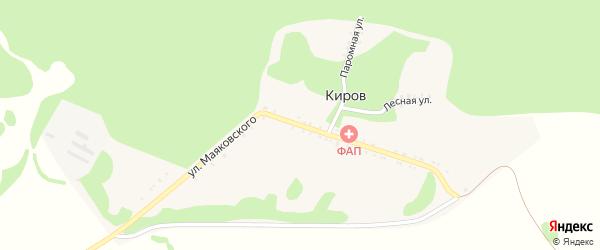 Улица Маяковского на карте хутора Кирова Адыгеи с номерами домов