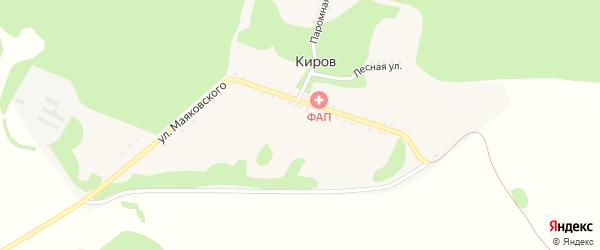 Лесная улица на карте хутора Кирова Адыгеи с номерами домов