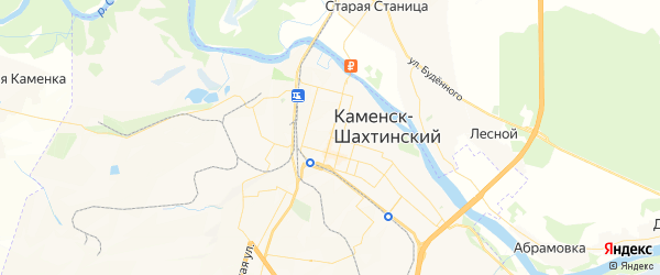 Карта Каменска-Шахтинского с районами, улицами и номерами домов