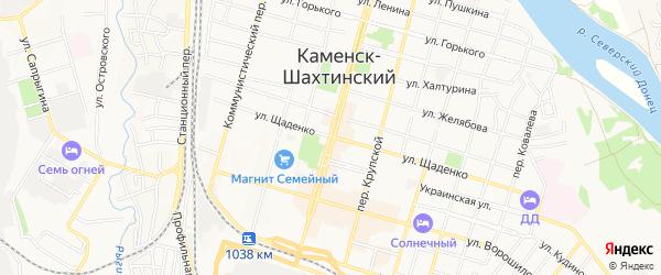 Карта садового некоммерческого товарищества Союз-1 города Каменска-Шахтинского в Ростовской области с улицами и номерами домов