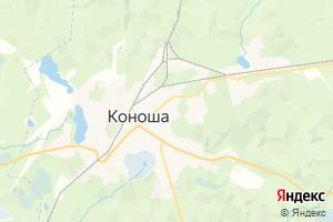 Карта пос. Коноша Архангельская область