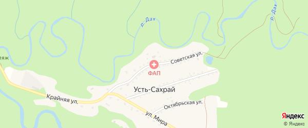 Советская улица на карте поселка Усти-Сахрая Адыгеи с номерами домов
