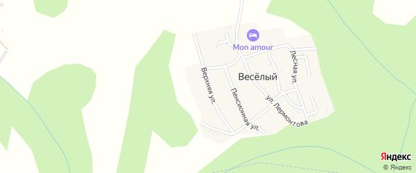 Верхняя улица на карте хутора Веселый (Каменномостский птт) Адыгеи с номерами домов