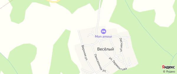 Короткая улица на карте хутора Веселый (Каменномостский птт) Адыгеи с номерами домов