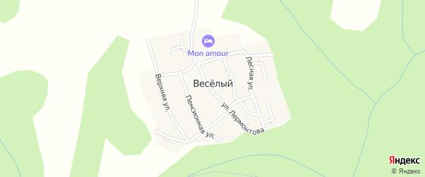 Улица Шолохова на карте хутора Веселый (Абадзехское с/п) Адыгеи с номерами домов