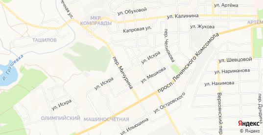 Карта территории Искра в Шахтах с улицами, домами и почтовыми отделениями со спутника онлайн