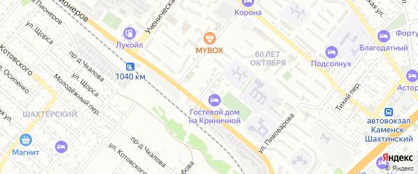 Криничная улица на карте садового некоммерческого товарищества Урожайного с номерами домов