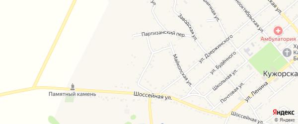 Армянский переулок на карте Кужорской станицы Адыгеи с номерами домов