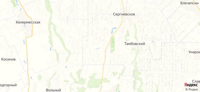 Колхозный на карте
