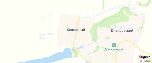 Кольцевая улица на карте Колхозного хутора с номерами домов