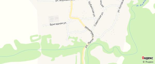 Улица Свердлова на карте Кужорской станицы Адыгеи с номерами домов
