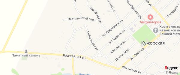 Майкопская улица на карте Кужорской станицы Адыгеи с номерами домов