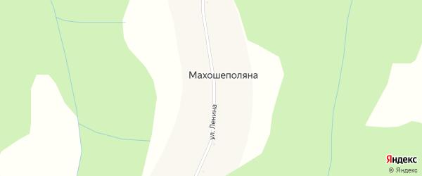 Улица Ленина на карте села Махошеполяны Адыгеи с номерами домов