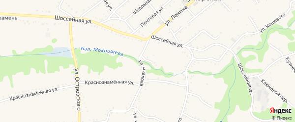 Круглый переулок на карте Кужорской станицы Адыгеи с номерами домов