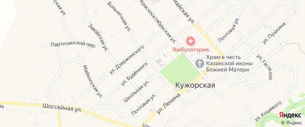 Больничная улица на карте Кужорской станицы Адыгеи с номерами домов