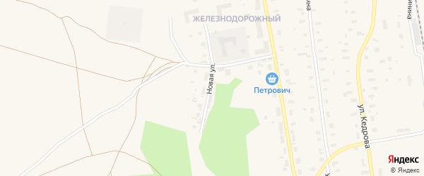 Новая улица на карте Обозерского поселка с номерами домов