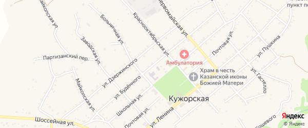 Улица Буденного на карте Кужорской станицы с номерами домов