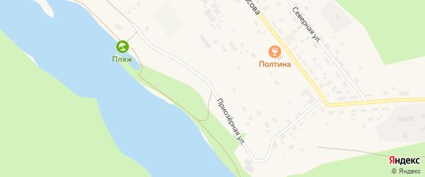 Приозерная улица на карте Обозерского поселка с номерами домов
