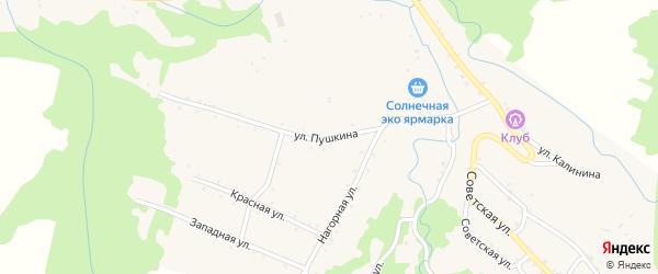 Улица Пушкина на карте Севастопольской станицы Адыгеи с номерами домов